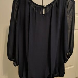 max edition Tops - Gorgeous midnight blue blouse